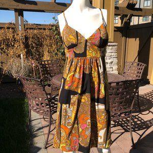 Trina Turk LA Mod Silk Baby Doll Dress Size 10